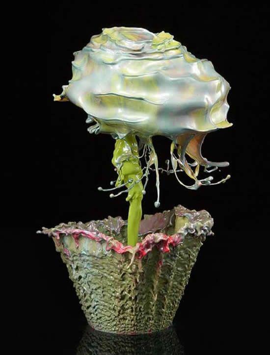 Desafio Criativo: Flores Surreais em Fotografias de Alta Velocidade