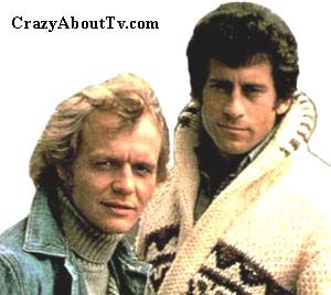 Starsky and Hutch, cop show starring David Soul, Paul Michael Glaser, and their sexy red & white Ford Torino.