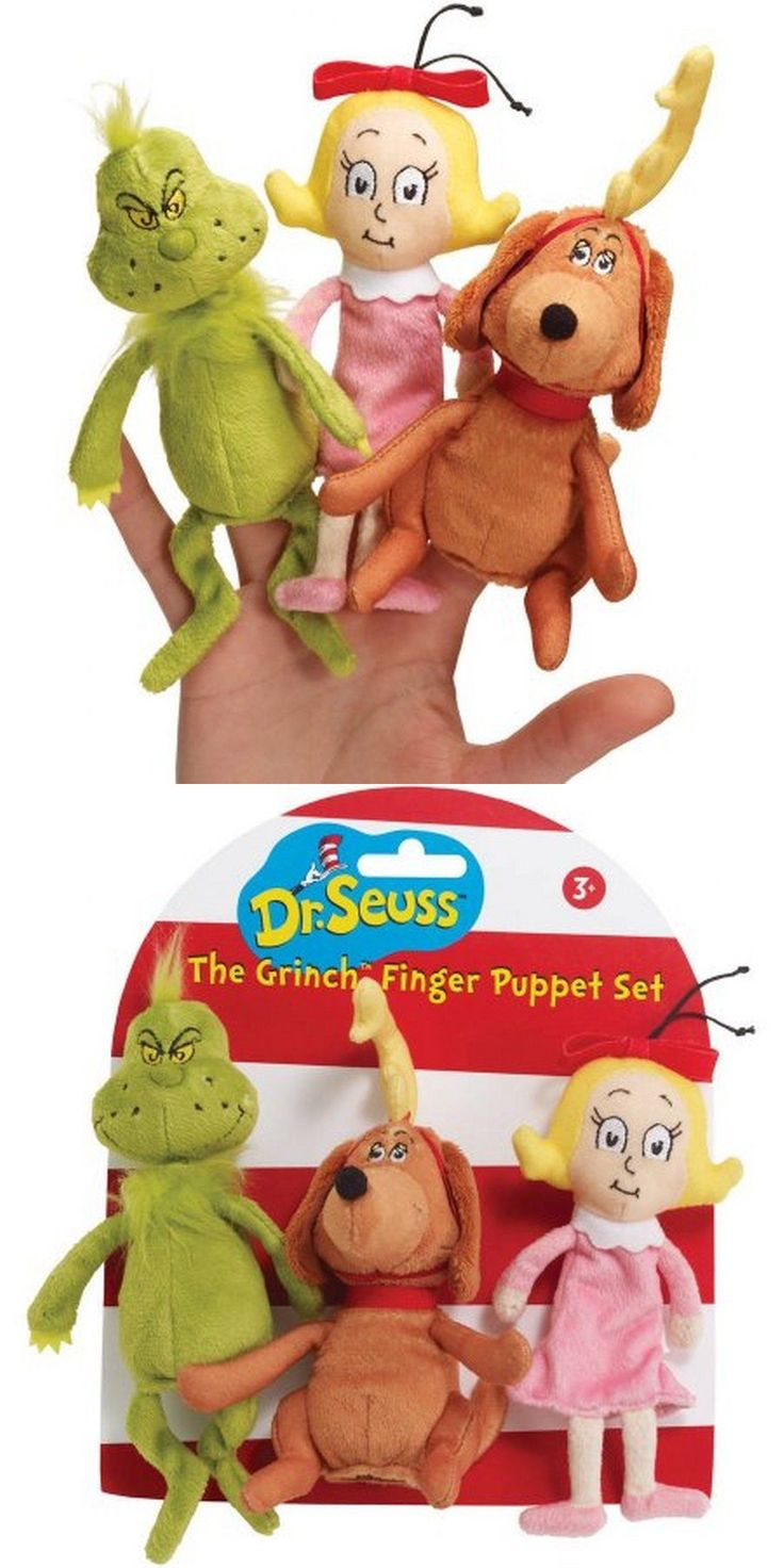 Dr Seuss 20906: Manhattan Toy Dr. Seuss The Grinch Finger Puppet Set -> BUY IT NOW ONLY: $31 on eBay!