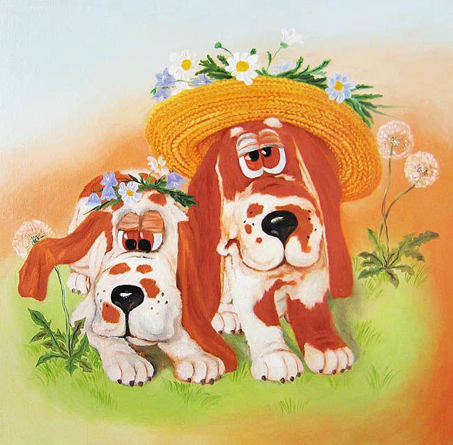 Картинки с собаками смешные рисованные