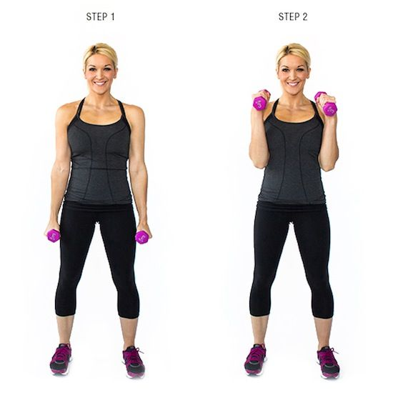 17 Free Weight Exercises for Toned Arms - Tank top season is just about here and that means those arms are going to be all out for the world to see. Of course, you want them to be tank-top and tankini ready which means you'll have to work them hard – biceps, triceps and shoulders. All you need to turn those arms into sculpted works of art is a pair of free weights. Not quite sure though what to do? Well, here are 17 great exercises that can help your arms look their summer best.