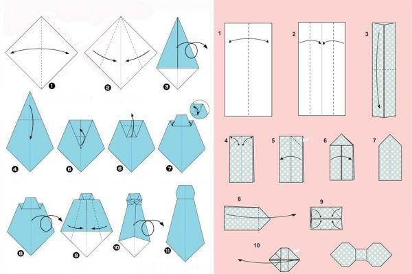 Днем рождения, открытки из бумаги оригами рубашка