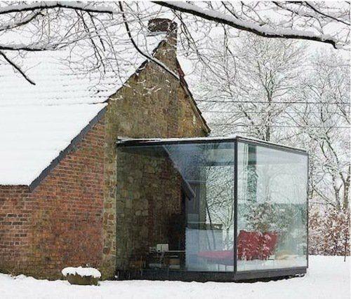 extension de maison en verre