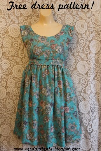 This one looks a bit more advanced, but a cute, summery dress.
