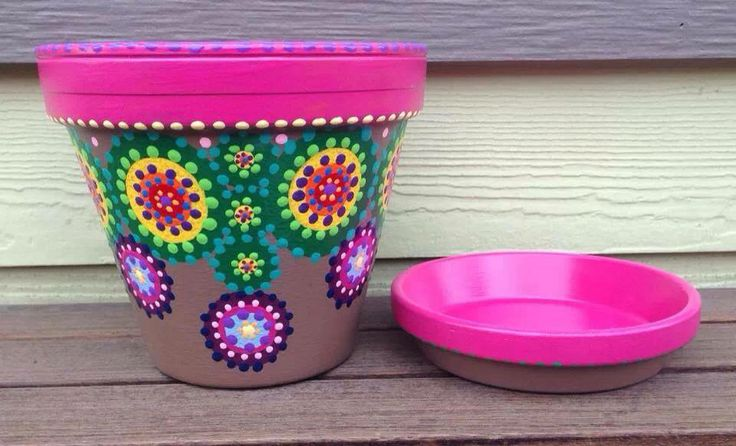pretty painted pots