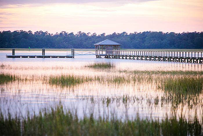 Sunset on the Lowndes Grove Plantation dock in Charleston, South Carolina…