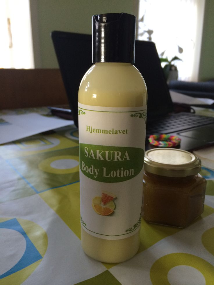 Homemade natural body lotion