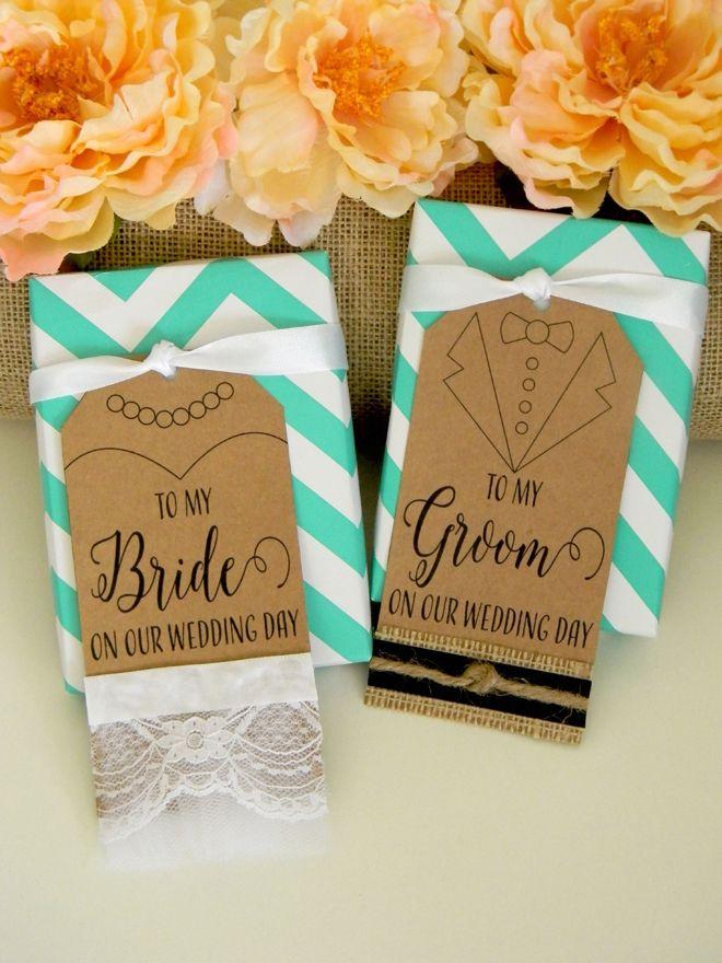 FREE bride and groom wedding gift tag printable file!