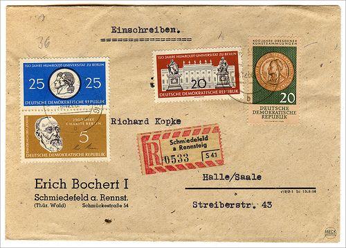 DDR Briefmarken: Humboldt Virchow 400 Jahre Dresdener Kunstsammlung