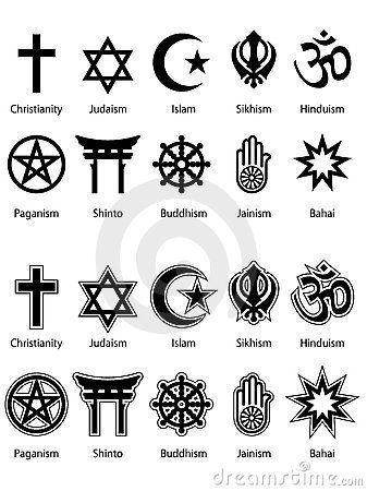 """Simbolos religiosos -  Segundo Edinger, """" símbolo é uma palavra originária do grego, resultante da combinação de SYM + BOLON, significando aquilo que é colocado junto"""". Da pasta: Tradições, Mitologias, Ícones, Holismo."""