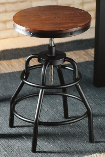 Pottery Barn Look-Alikes: Foster Reclaimed Wood Backless Swivel Desk Chair