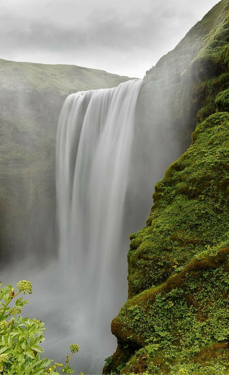 The Skógafoss waterfall is one of the biggest and most popular in the country. It has a width of 82 feet (25 meters) and a drop of 200 feet (60 meters). Click through to see 15 of Iceland's BEST waterfalls!