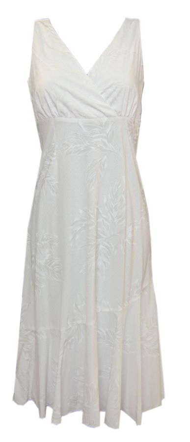 hawaiian wedding dresses | Hawaiian White Leaf Wedding Dress $88.00