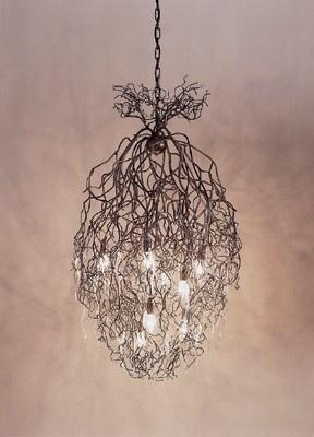 twig chandelier ~ Hollywood Conical Chandelier in bronze by Brand En Van Egmond