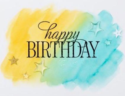 Happy Birthday - blue & yellow - Custom edit by lechezz