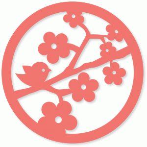 Silhouette Online Store - View Design #41408: birdie branch doily