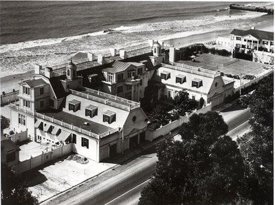 Former William Randolph Hearst / Marion Davies Santa Monica Beach escape. Now, only the beach house at the top far right exists.