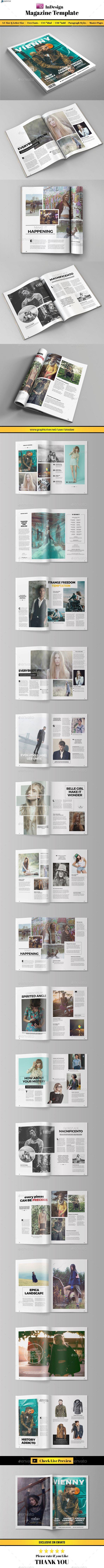 Clean Fashion Magazine Template #design Download: http://graphicriver.net/item/clean-fashion-magazine-/11551601?ref=ksioks