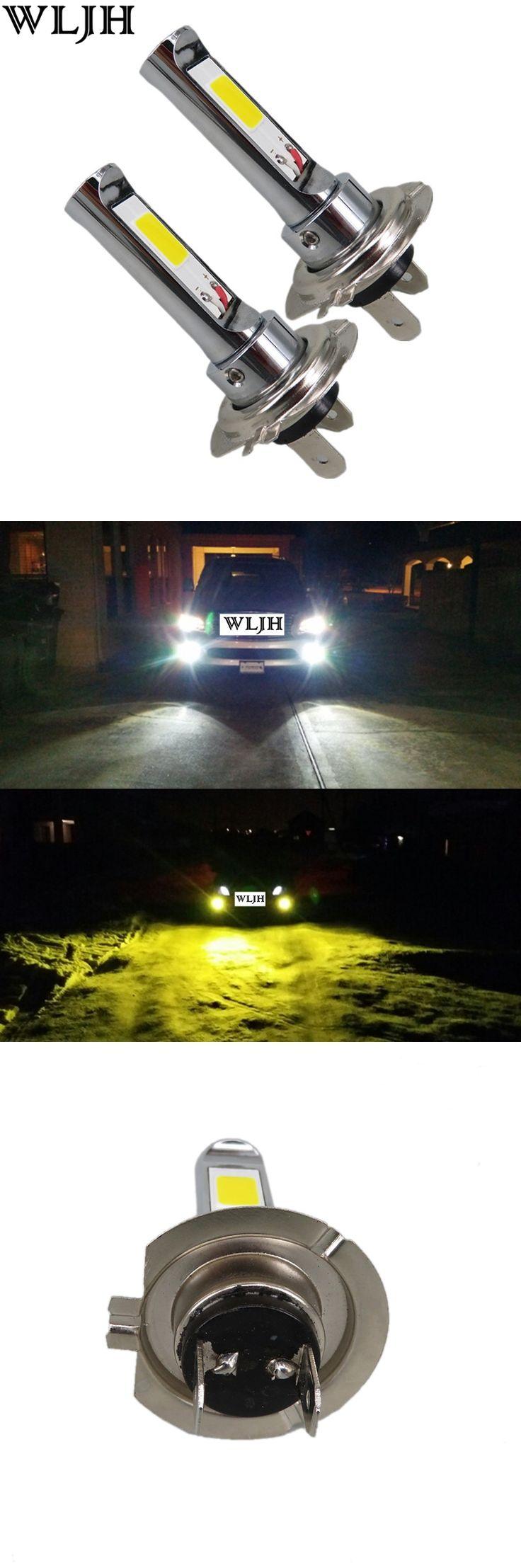 Die besten 25 h7 headlight bulb ideen auf pinterest led wljh 2x 12v 24v 30v dcac gold yellow white led h7 lamp light 18w parisarafo Gallery