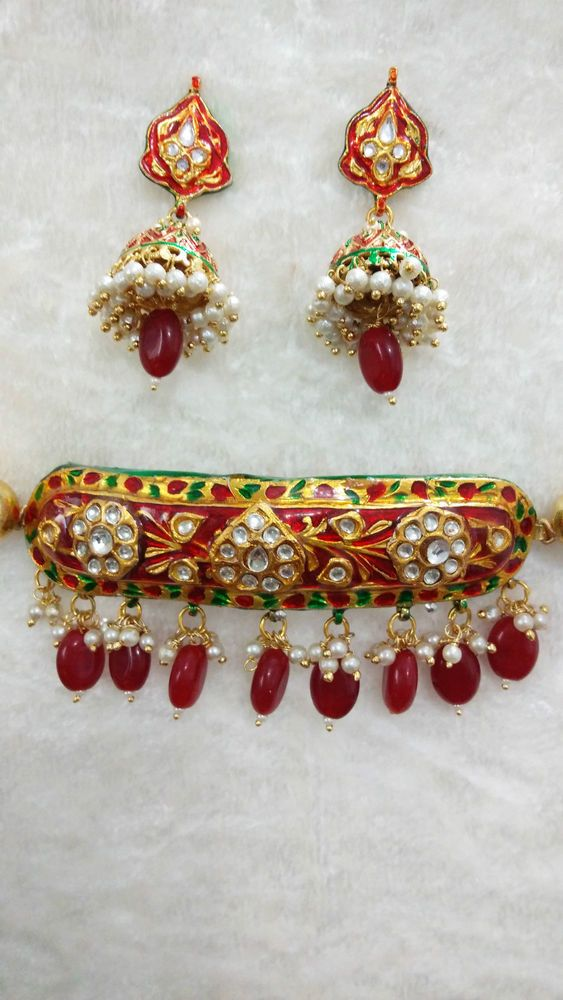 Indian Bollywood Necklace Set Polki Ruby Dropings Dulhan Bridal Wear Ethnic   #SparshJewels