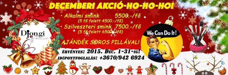 December promotion - Hungarian text #makeup #smink #sminkakcio #sminkes #djongi #djongimakeup #sminkmester #josmink #sminkakciodecember #makeuppro #makeupaddict #makeupartist #karancsony #decemberiakcio #sfx #specialeffectsartist #specialeffectsmakeup #budapest #bestoffer #szilveszterismink #alkalmismink