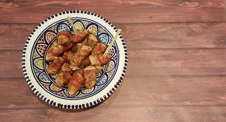 Foto: Oei... Stukjes kip omwikkeld met gekarameliseerde bacon. Hoe lekker is dat?. Geplaatst door Sandra-Nota op Welke.nl