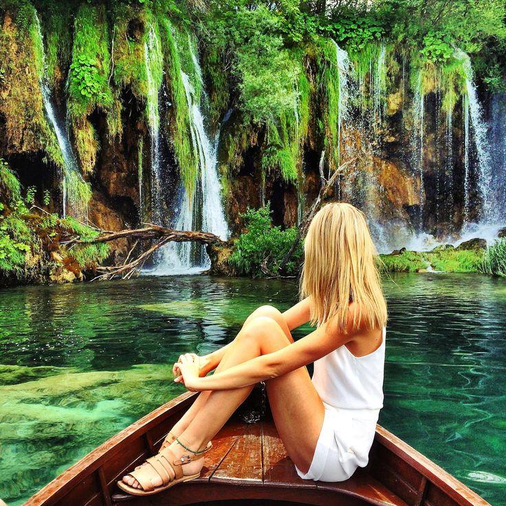 Plitvice, Croatia.  Plitvice Lakes National Park.  Road Trip; Zagreb-Plitvice-Sibenik-Krka-Split- Dubrovnik