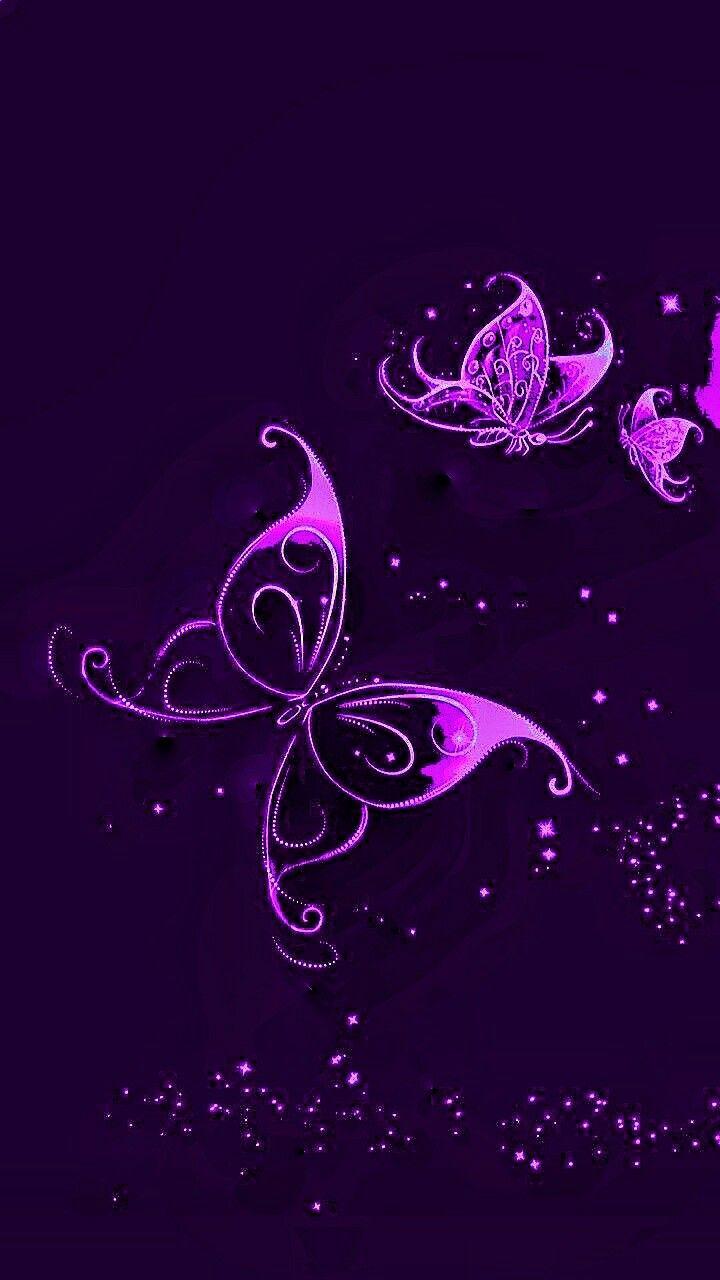 Pin By Yanina Leguisamo On Coralcrystal Butterfly Wallpaper Butterfly Art Purple Butterfly