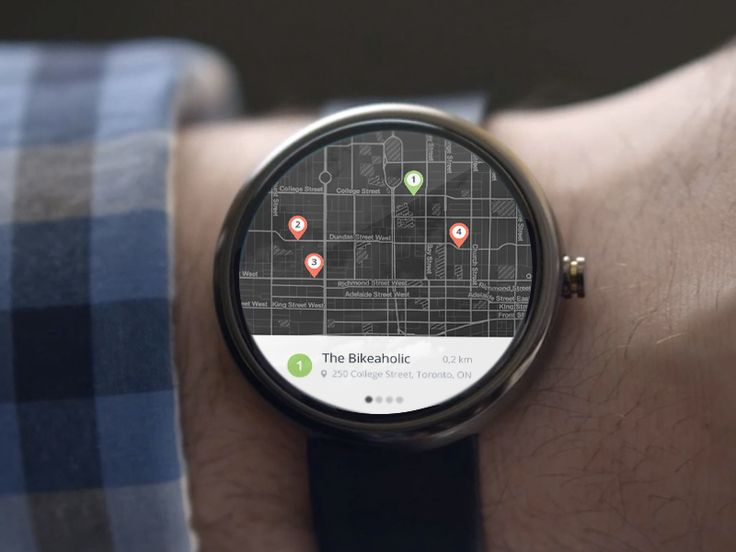 Android Wear Map Results Android wear, Ux design and To work