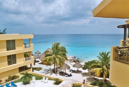My favorite place to stay Playa Azul Hotel in Cozumel, Mexico.