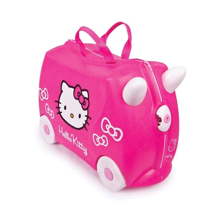 Trunki Hello Kitty Children's Luggage Ride On Suitcase Hand Toy Bag Kids Pink