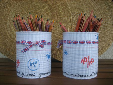 Pot crayons maitresse d'école