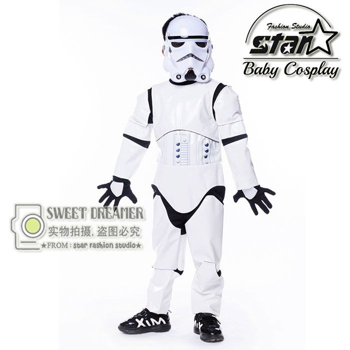 >> Click to Buy << Kids Birthday Halloween Party Gift New Child Boy Deluxe Star Wars The Force Awakens Storm Troopers Cosplay Fancy Dress Kids Hall #Affiliate