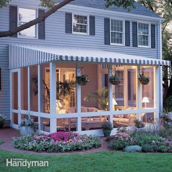 <p>Love your patio but hate the bugs, wind and glaring sun? Our screened-in, post and beam patio enclosure with removable awning top solves it all.</p>