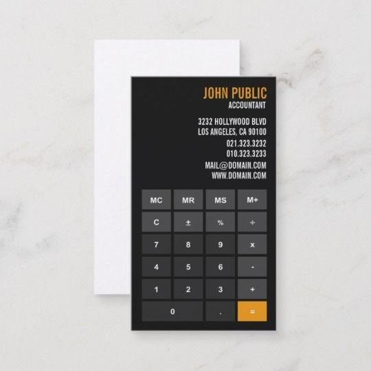 Accountant Calculator Financial Advisor Business Card Zazzle