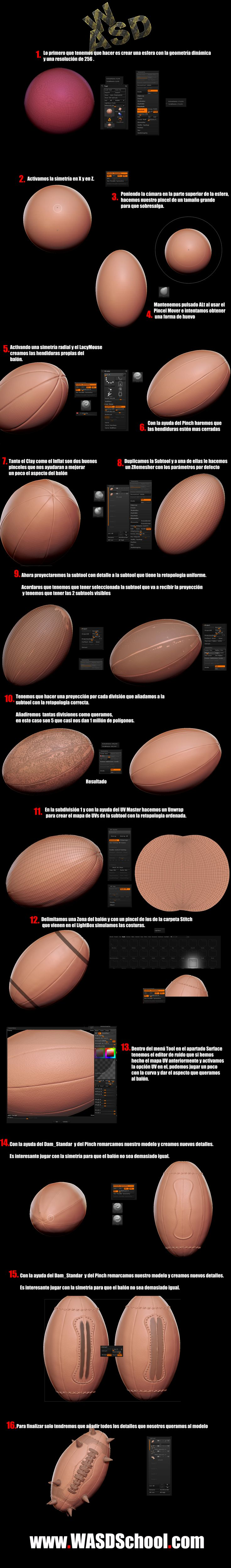 Ball Zbrush tutorial by WASDschool