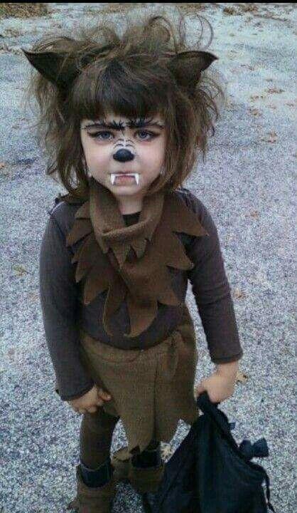 Cute Halloween Costume. Werewolf.                                                                                                                                                                                 More