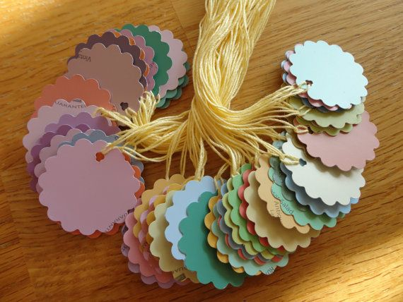 Paint Swatch Gift or Garage Sale Tags i AM GOING TO MAKE THESE