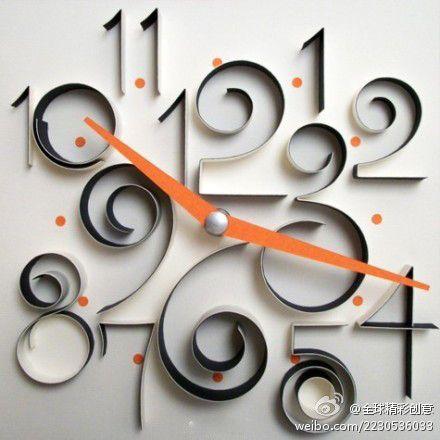DIY paper wall clock - very cool!