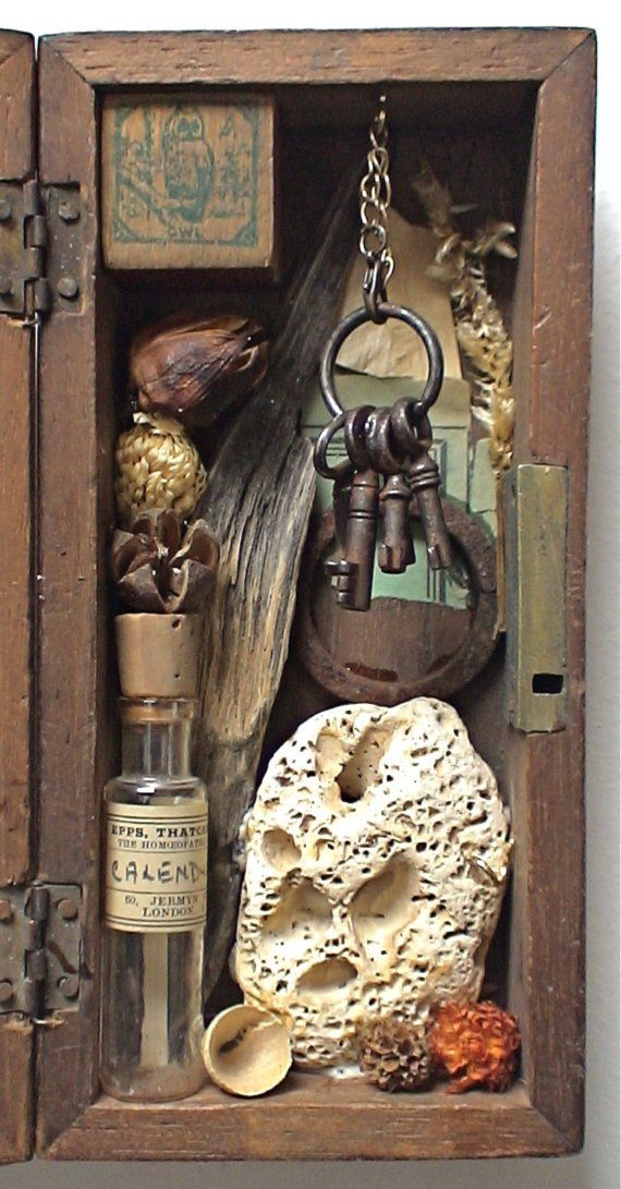assemblage art 'the owl sanctuary' by mylittlelovebox on Etsy