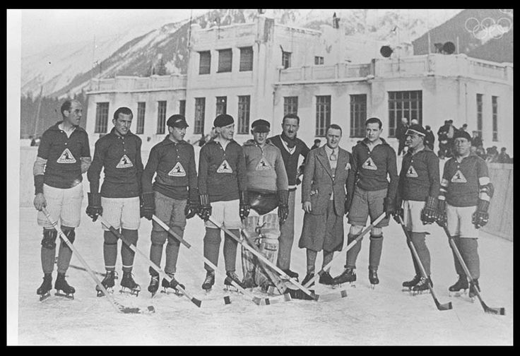 The first Olympic ice hockey team. 1924.