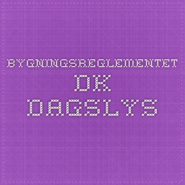 bygningsreglementet.dk - Dagslys