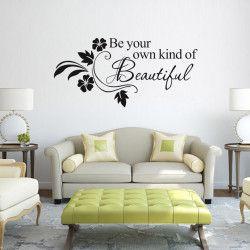 Be beautiful! Be your own kind of beautiful! Dekorera hemmet med ett stilrent väggdekor och ge det en snygg touch. Förutom motivet är även storleken väldigt iögonfallande!  Länk till produkt: http://www.feelhome.se/produkt/be-beautiful/    #Homedecoration #art #interior #design #Walldecor #väggdekor #interiordesign #Vardagsrum #Kontor #Modernt #vägg #inredning #inredningstips #heminredning #kärlek #citat #motivation