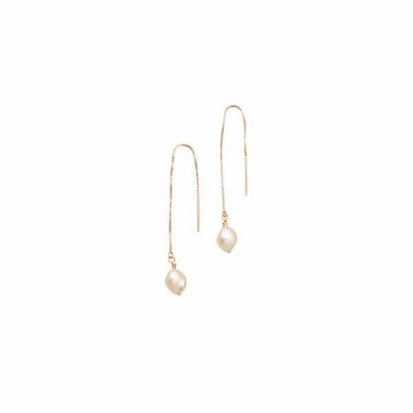 Pearl Threader Earring