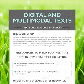 Digital and Multimodal Texts