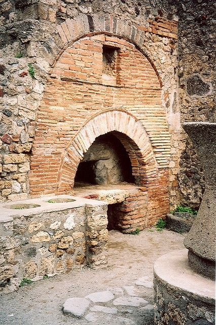 A cooking hearth at Pompeii. Photo by Carolyn Conne
