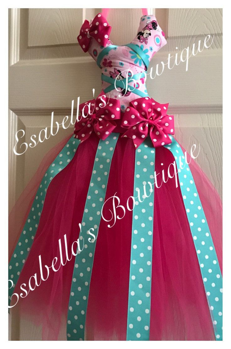Minnie tutu bow holder;pink minnie bow holder;tutu bow holders;tutu bow holder;aqua blue bow holder;bow holder by EsabellasBowtique on Etsy