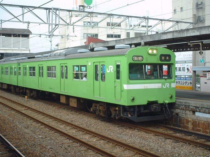 ☆JR関西本線普通・クハ103-215/柏原駅020518