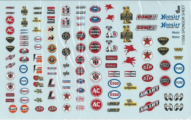 Gofer racing 1 24 1 25 1 18 scale sponsor decals set 1 for model cars