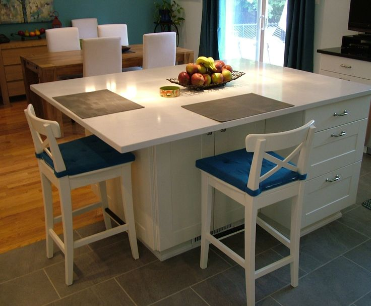 Modern and Specious White Kitchen Island Ideas with Seating